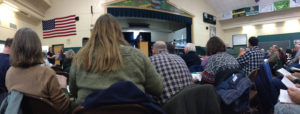 A typical Town Meeting day in Tunbridge, VT.