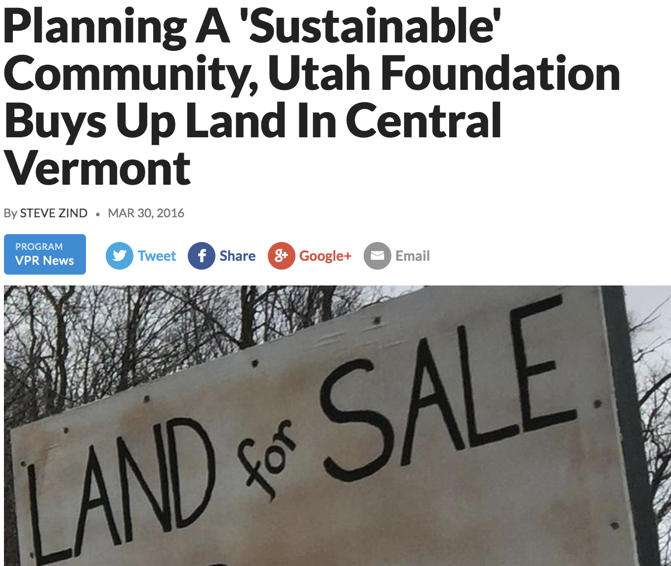 Headlines – Alliance for Vermont Communities